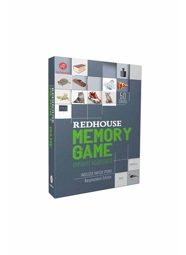 Red House Redhouse Memory Game Opposite Adjectives Beyaz